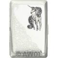 """Glitter Unicorn"" Ultra Slim King Diagonal Florentine Card Case"