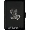 """""""Flying Eagle"""" Ultra Slim King Black Matte Card Case"""