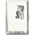"""Glitter Unicorn"" Ultra Slim King Chrome Card Case"