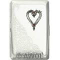 """Wild Heart"" Ultra Slim King Diagonal Florentine Card Case"