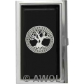 """Celtic Tree of Life"" Black Epoxy Business Card Case"