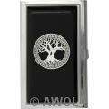 """Celtic Tree of Life"" Black Epoxy Business Card Case"