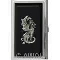 """Little Dragon"" Black Epoxy Business Card Case"
