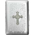 """Gothic Celtic Cross"" Ultra Slim King Florentine Satin Card Case"