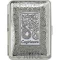 Slim King 'Celtic Zodiac Capricorn' Florentine Chrome Pocket Case