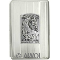 100mm 'Gothic Celtic Dragon' Chrome Stripes Cigarette Case / Stash Holder
