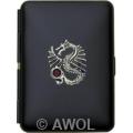 'Nicks Dragon' Slim King Black Pocket Case / Cigarette Case
