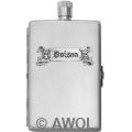 2oz 'Poison' Satin Flask & Cigarette Case Comb