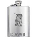 3.5oz 'Glitter Unicorn' Premium Satin Boot Flask
