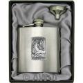 8oz 'Gothic Celtic Dragon' Heavy Gauge Premium Satin Flask & Funnel Gift Set