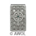 """Celtic Cross Circle"" Pewter Panel Silver Tone Money Clip"