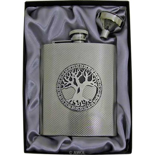 8oz Celtic Design Flask L1